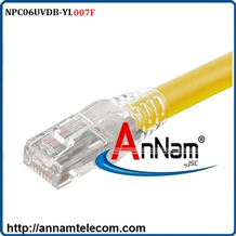 Dây nhảy patch cord 2m Cat6 Yellow (NPC06UVDB-YL007F)