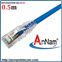 Dây nhảy patch cord 0.5m Cat6 Blue (NPC06UVDB-BL002F) commscope