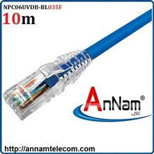 Dây nhảy patch cord 10m Cat6 Blue (NPC06UVDB-BL035F) commscope
