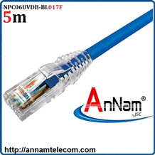 Dây nhảy patch cord 5m Cat6 Blue (NPC06UVDB-BL017F) commscope