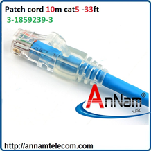 Dây nhảy patch cord 10m Cat5 30FT Blue CO155D2-0ZF030 Commscope