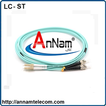 Dây nhảy quang Multimode LC-ST Duplex , Patchcord LC-ST Duplex OM3