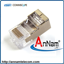 Hạt Mạng AMP ( 6-569530-3 ) Category 5 Modular Plug, Shielded, RJ45, 26-24AWG, Solid