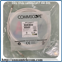 NPC6ASZDB-WT005M - NPC, Cat 6A, Cat7, Shielded, LSZH, White, 5M-Dây nhảy cat6A/cat7 dài 5m commscope