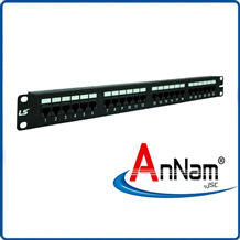 Patch panel 24 Port Cat5e LS